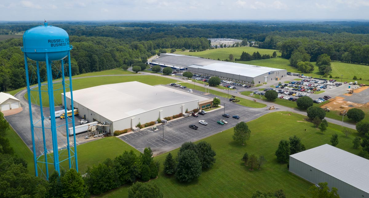 Existing manufacturing in Russell County Business Park Site 3