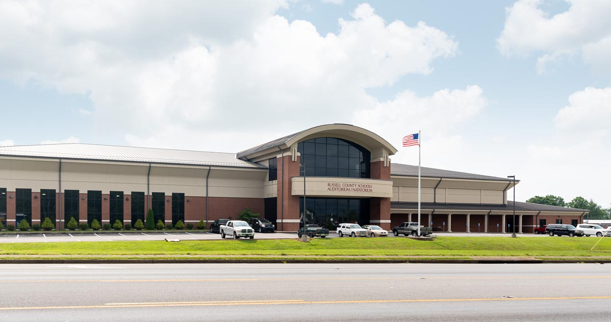 Russell County High School exterior.