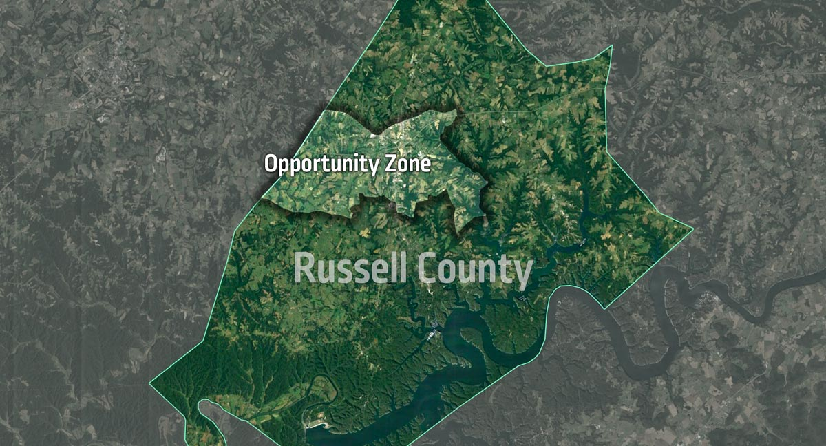 Russell County Opportunity Zone google earth view.