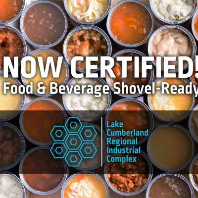 Lake Cumberland Regional Industrial Complex Site 1 receives food and beverage processing shovel-ready site designation